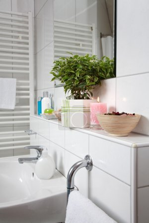 Bathroom detail in white