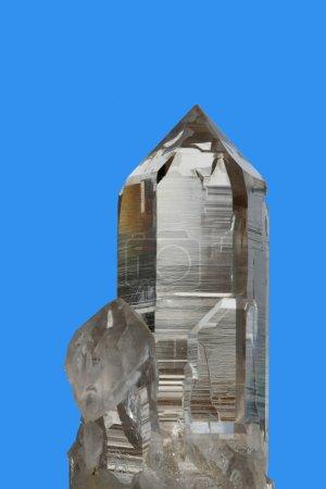 Crystal on blue background