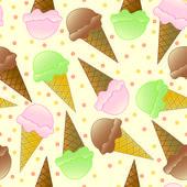 Seamless Ice Cream Pattern