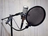 Stúdió ének mikrofon  grunge falon 2