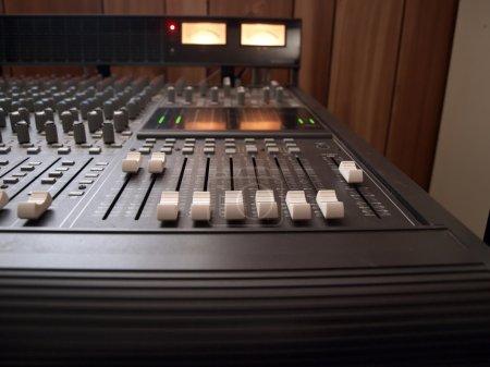 Studio mixing board