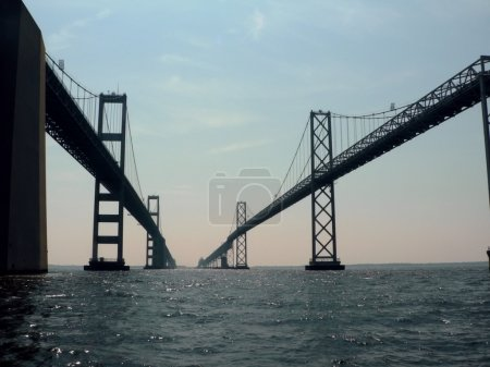 Chesapeake bay bridge close up 2