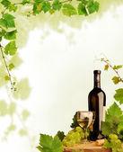 Bor és a szőlő design