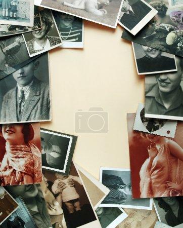 Foto de Fondo de fotografías de álbumes familiares - Imagen libre de derechos