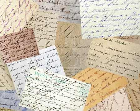 Vintage handwriting collage