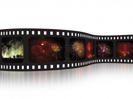 Photo for Film strip - Fireworks - Royalty Free Image