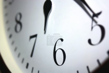 Photo for Clock face and hands closeup - Royalty Free Image