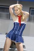 Beautiful blonde junior seawoman