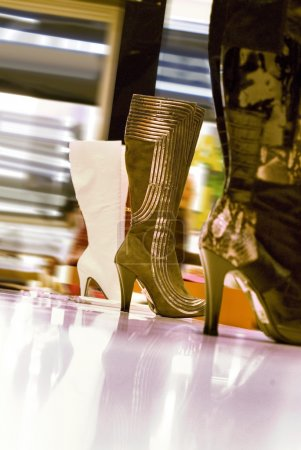 Boots in a shop