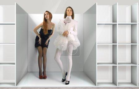 Dolls in the shelf