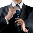 Hands of businessman that is a man of handsome pre...