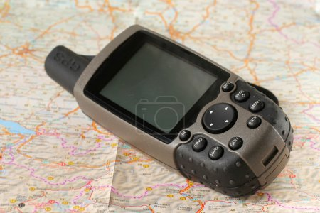 GPS receiver on a map