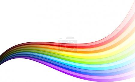 Illustration pour Arc-en-ciel ondulé isolé sur le blanc . - image libre de droit