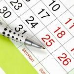 Pen on a calendar...