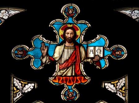 Lattice window - Jesus Christ