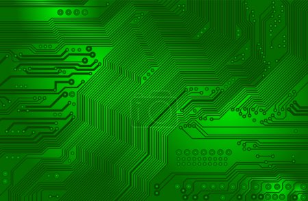 Illustration for Image of the printed circuit - motherboard - technology abstract - vector - Royalty Free Image