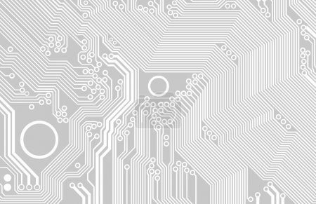Illustration for Image of the printed circuit - motherboard - vector - Royalty Free Image
