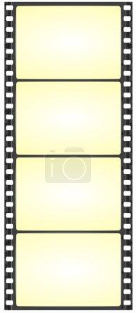 Wide film strip - vector