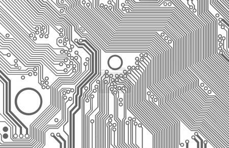 Illustration for Abstract illustration of the printed circuit - technology abstract - Royalty Free Image