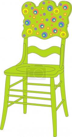 Illustration for Vector illustration of children's chair - Royalty Free Image