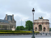 Louvre and Eiffel tower view