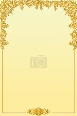 Photo for Decorative golden border - Royalty Free Image