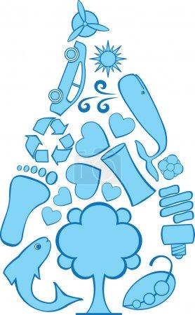 Eco Doodles Water Droplet
