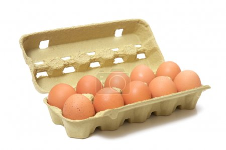 Photo for Brown eggs in box - Royalty Free Image