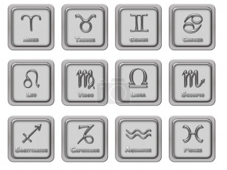 Photo for Zodiac signs icons - Royalty Free Image