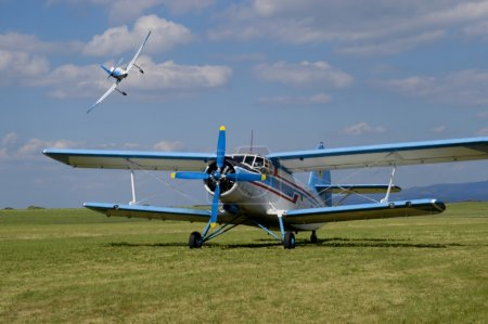 Biplane An-2 in the airshow