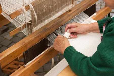 Rustic wooden loom