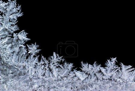 Photo pour Arrière-plan hivernal - gros plan sur la glace - image libre de droit