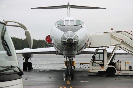 Airbus at airport terminal