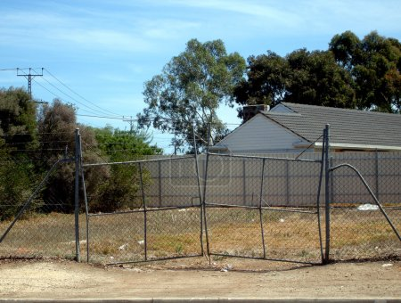 Stretched Gates on Empty Lot