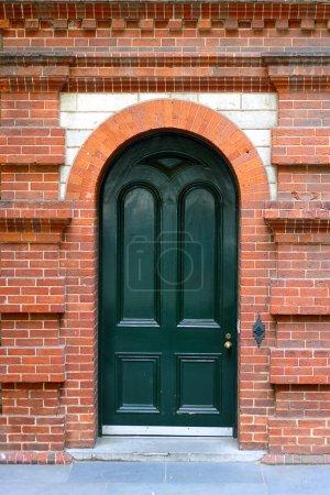 Heritage Door in Decorative Brick Wall