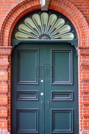 External Door in Decorative Brick Wall