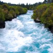 Looking Upstream at the Waikato River in the narro...