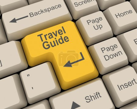 Photo pour Guide de voyage clé - image libre de droit