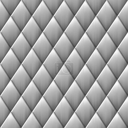 brossé carrés métal diamant