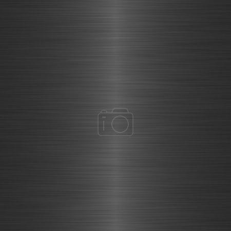 Black brushed metal background with central highli...
