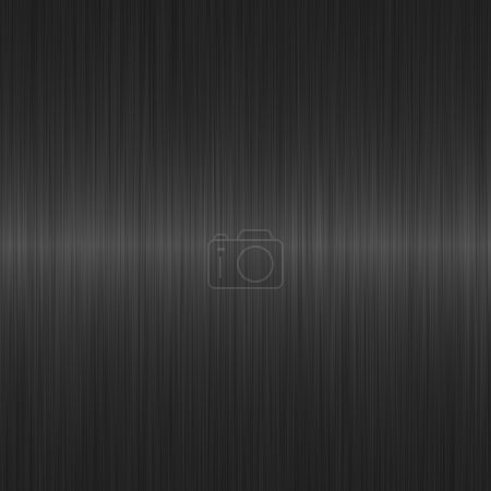 Photo for Dark grey brushed metal background with horizontal highlight - Royalty Free Image