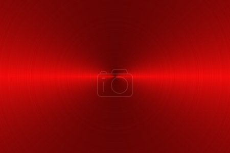 Photo for Circular brushed red metallic background with central, horizontal highlight - Royalty Free Image