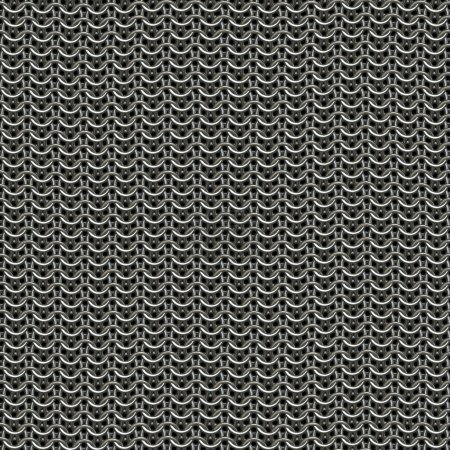 Ring or chain mail armor background, tiles seamles...