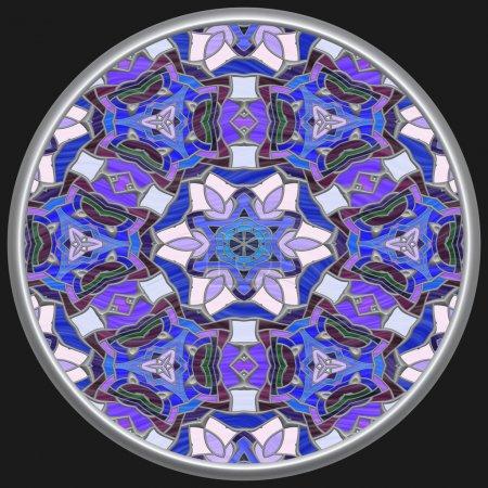 Foto de Abstracto azul vitral sobre negro - Imagen libre de derechos