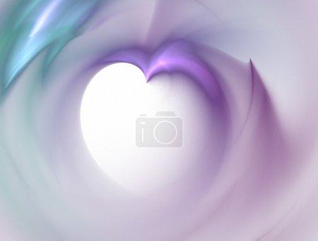 Photo pour Fracture de flamme à haute résolution formant une forme de coeur 3d - image libre de droit