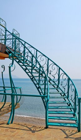 Stairs, sea and sky