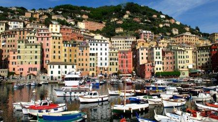 Camogli town view , Liguria, Italy