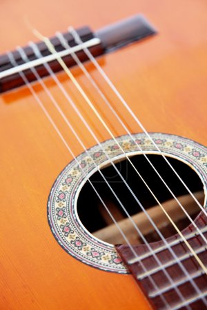 Photo for Music and sound image, guitar instrument. strings - Royalty Free Image