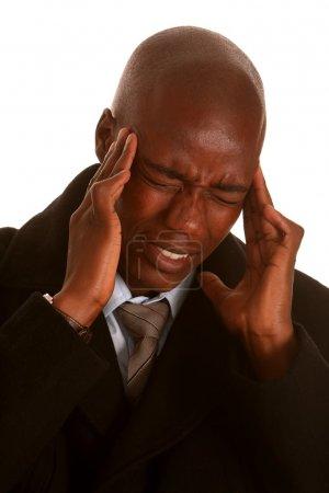 African Man with Headache