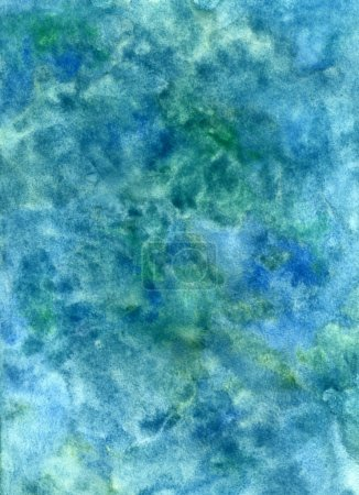 Handmade watercolor blue texture